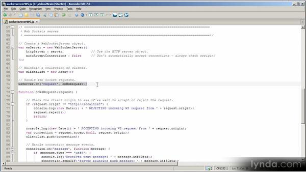 Implementing a web sockets server: HTML5 Power Workshop