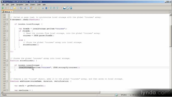 Managing data in a mobile web application: HTML5 Power Workshop