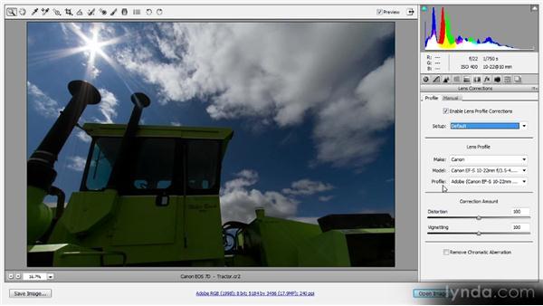 Profile-based lens corrections: Photoshop CS6 Raw Workshop
