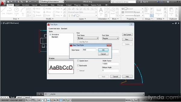 Configuring a text style for attributes: Data Management with AutoCAD 2013