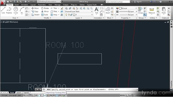 Drawing block geometry and testing it with text: Data Management with AutoCAD 2013