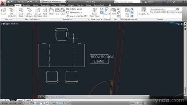 Defining a series of attributes with different modes: Data Management with AutoCAD 2013