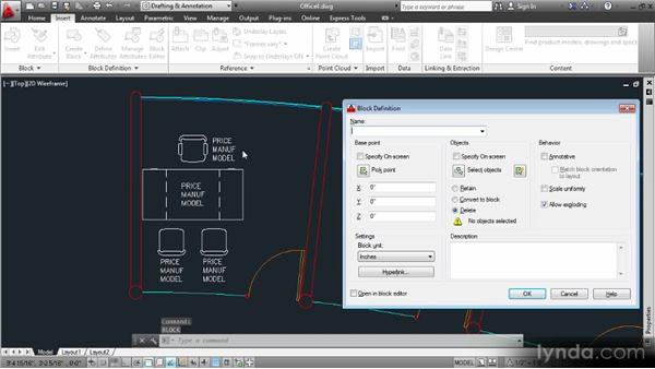 Defining blocks containing attribute definitions: Data Management with AutoCAD 2013