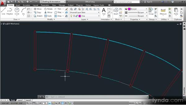 Creating closed objects to store room areas: Data Management with AutoCAD 2013
