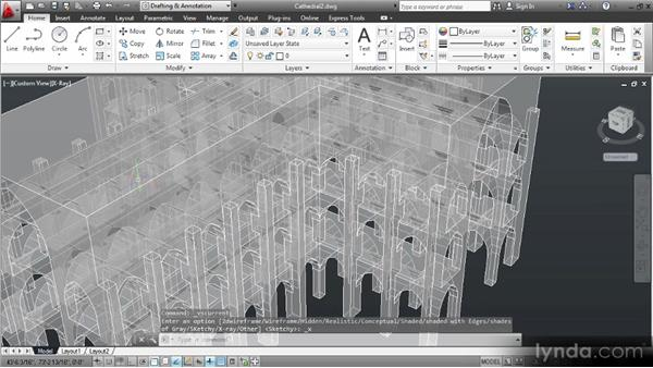 Controlling the visual style: Up and Running with 3D in AutoCAD 2013