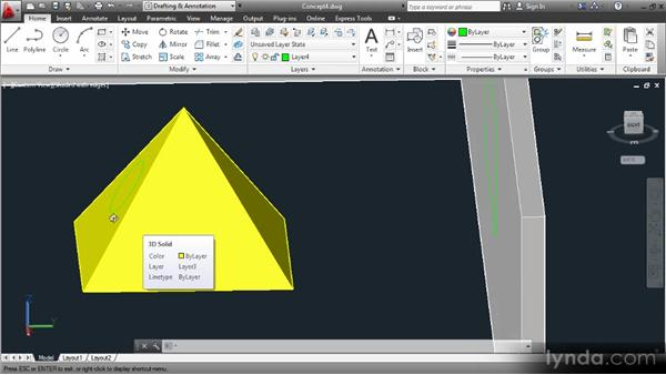 Dynamically changing the UCS: Up and Running with 3D in AutoCAD 2013