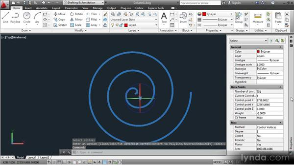 Drawing spirals: Up and Running with 3D in AutoCAD 2013