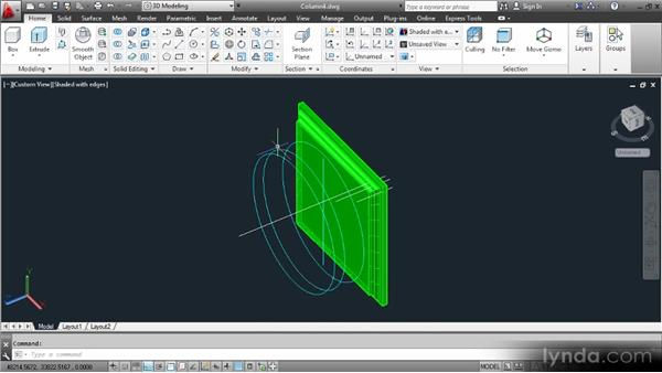 Revolving profiles: Up and Running with 3D in AutoCAD 2013