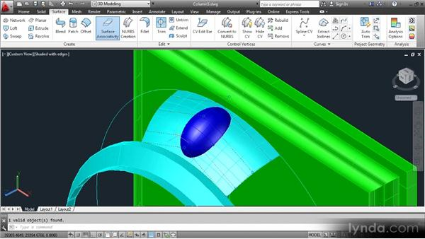 Sculpting surfaces: Up and Running with 3D in AutoCAD 2013