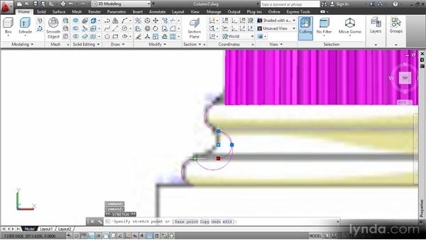 Modeling the base by revolving a profile: Up and Running with 3D in AutoCAD 2013