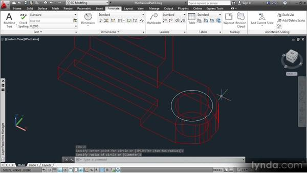 Dimensioning 3D models on 2D projections: Up and Running with 3D in AutoCAD 2013