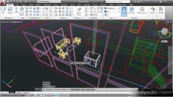 Animating camera motion: Up and Running with 3D in AutoCAD 2013