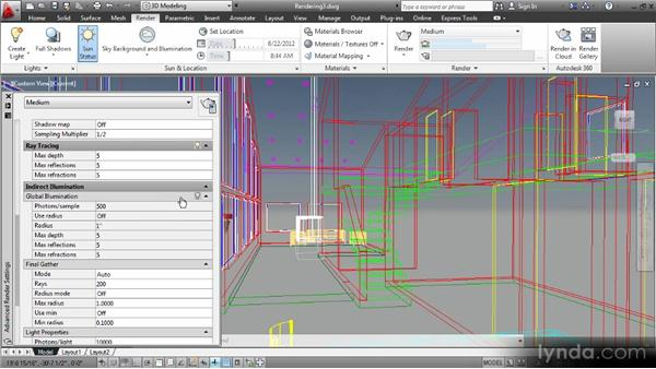 Creating renderings: Up and Running with 3D in AutoCAD 2013