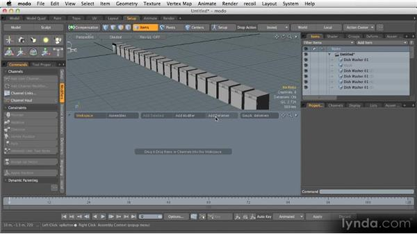Layout tabs: Layout and Animation: Getting Started with MODO 601