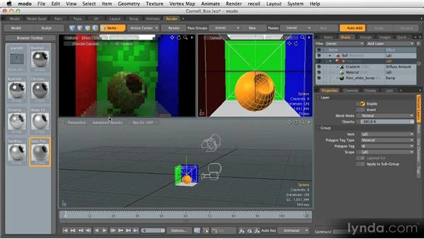Layout tabs: Render: Getting Started with MODO 601