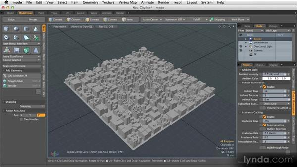 Navigation in 3D space: Getting Started with MODO 601
