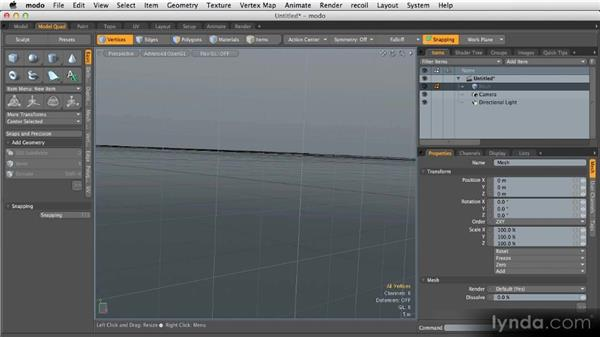 Viewports and UI customization: Getting Started with MODO 601