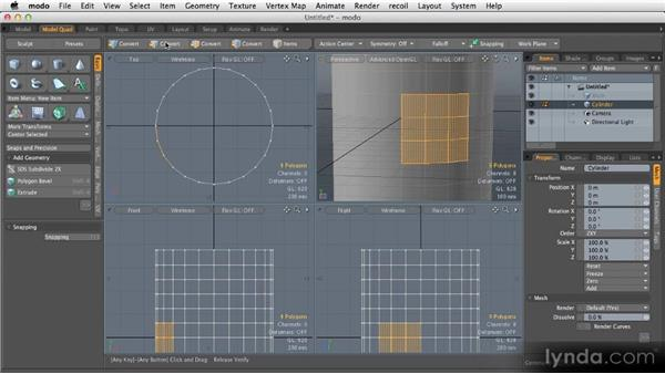 Making complex selections: Getting Started with MODO 601