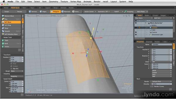 Deforming and editing meshes: Getting Started with MODO 601