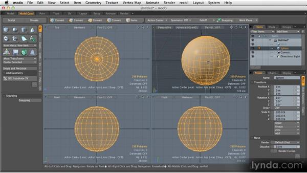 Symmetry: Getting Started with MODO 601