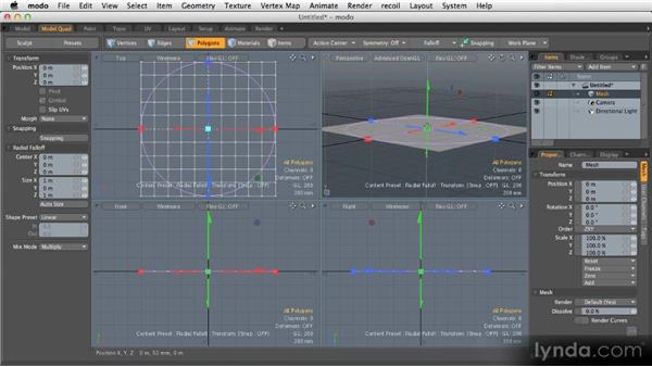 Falloffs: Getting Started with MODO 601