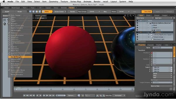 The preview renderer: Getting Started with MODO 601