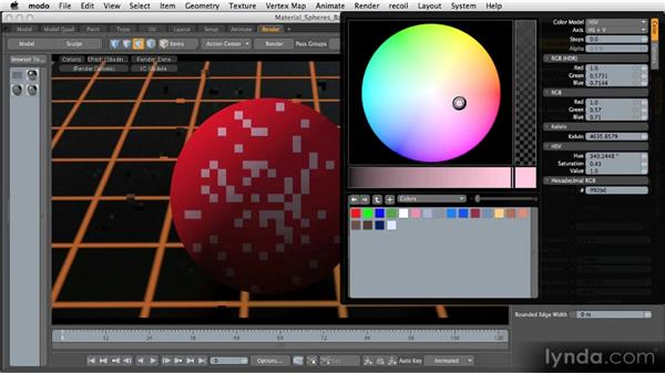 Basic material channels: Diffuse: Getting Started with MODO 601