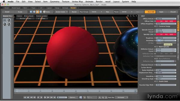 Basic material channels: Reflection: Getting Started with MODO 601