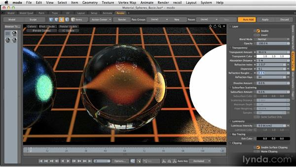 Basic material channels: Transparency: Getting Started with MODO 601