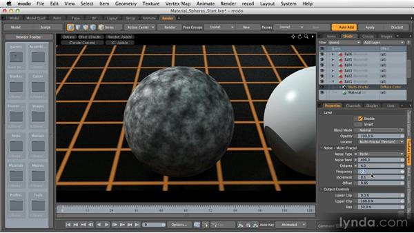 Procedural textures: Getting Started with MODO 601