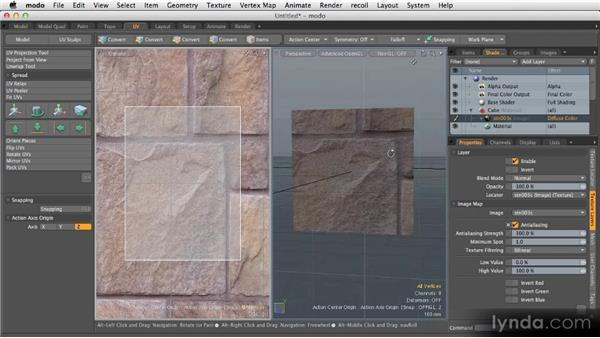 UV basics: Getting Started with MODO 601