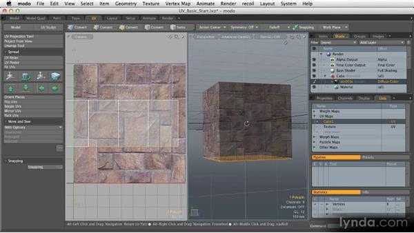 Basic projection: Getting Started with MODO 601