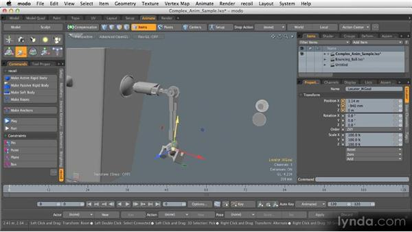 Animation basics: Getting Started with MODO 601