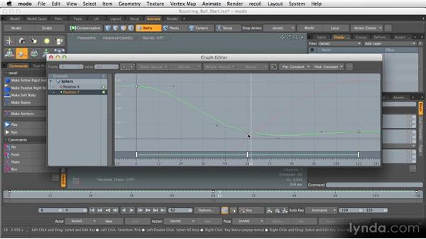 Using the graph editor: Getting Started with MODO 601