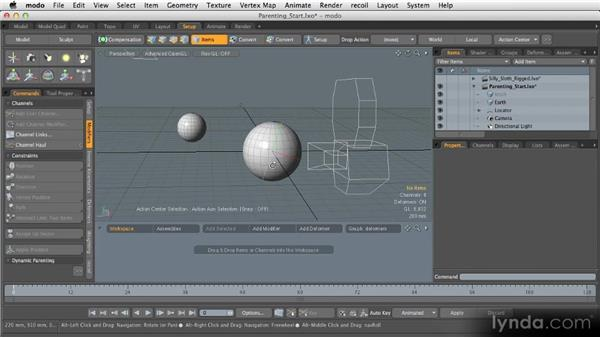 Rigged animation: Getting Started with MODO 601