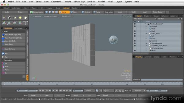 Physics animation: Getting Started with MODO 601