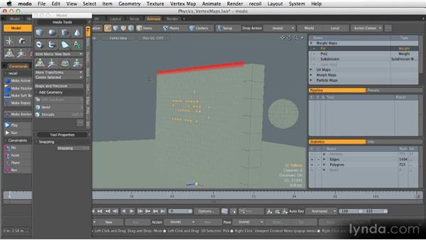 Vertex maps: Getting Started with MODO 601