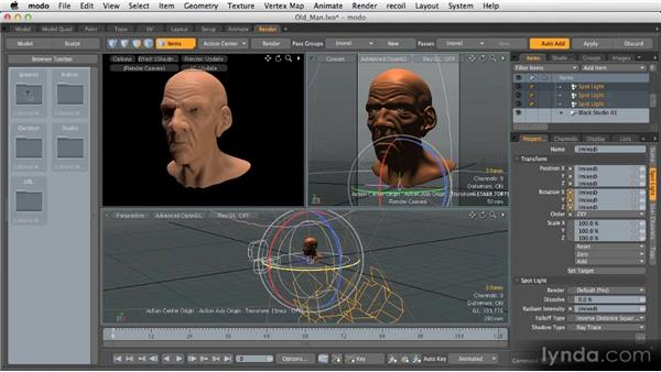 Lighting styles in 3D: Getting Started with MODO 601