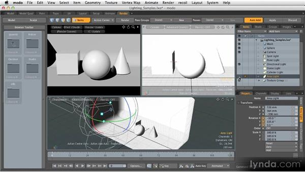 Direct illumination: Getting Started with MODO 601