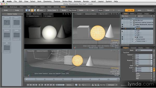 Indirect illumination: Getting Started with MODO 601