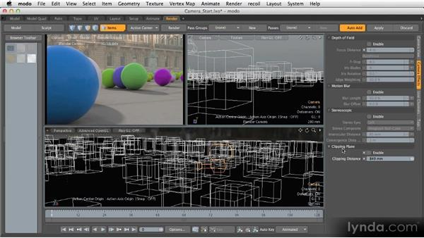 Camera setup: Getting Started with MODO 601
