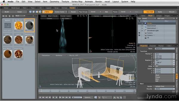 Lighting and rendering next steps: Getting Started with MODO 601