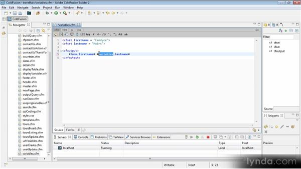 Scoping variables: Getting Started with ColdFusion 10