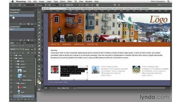 Creating a paragraph style for the body text: Design the Web: Simulating Web Text