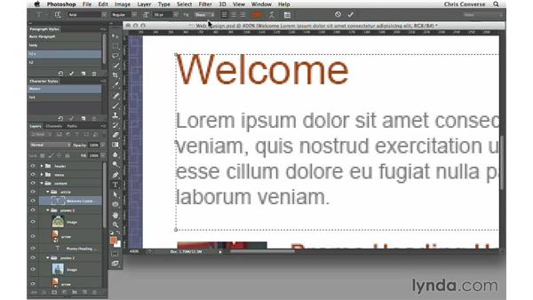 Adjusting the anti-aliasing settings for a text block: Design the Web: Simulating Web Text