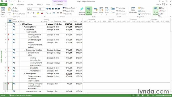 how to create summary task in ms project 2013