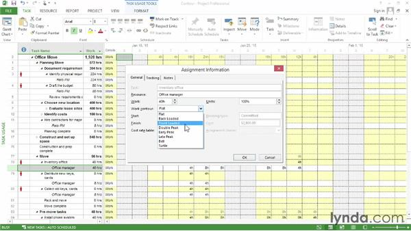 Adjusting a work contour: Microsoft® Project 2013 Essential Training
