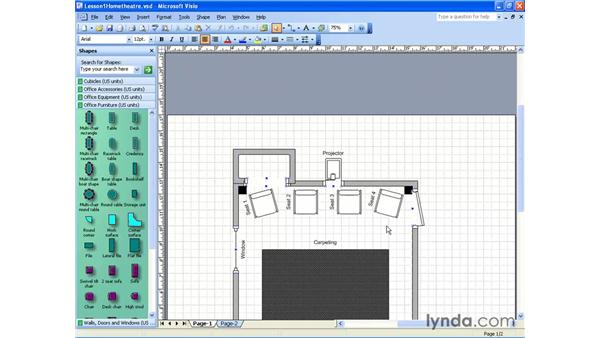 open and view documents : Visio 2003 Essential Training
