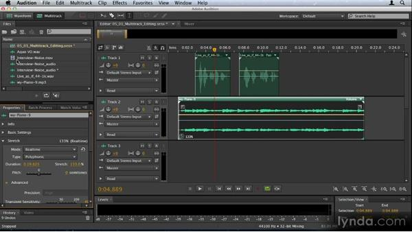 Multitrack editing enhancements: Audition CS6: New Features Workshop