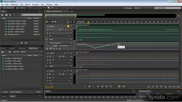 Envelopes in the Multitrack Editor: Audition CS6: New Features Workshop